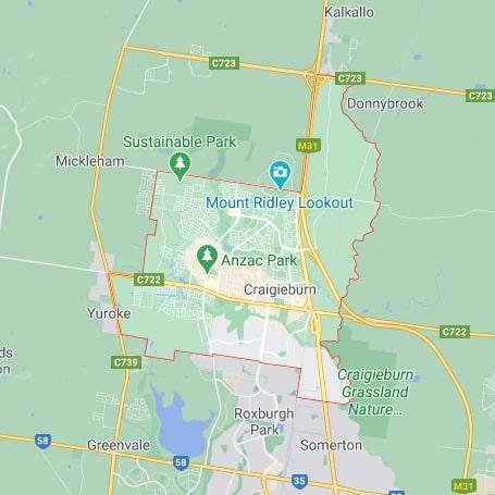 Craigieburn map area