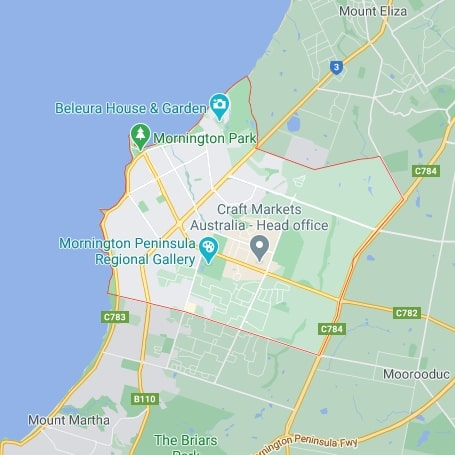 Mornington map area