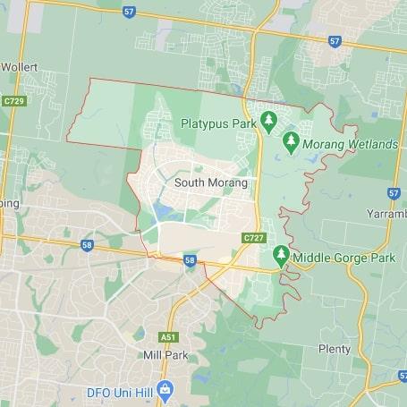 South Morang map area